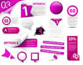 Ensemble d'icônes de progrès vector violet — Vecteur