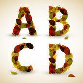 Autumn Vector alphabet letters — Stock Vector