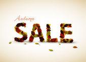 Vector autumn sale poster — Stock Vector