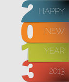 Happy New Year 2013 vector card — Vector de stock