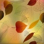 Autumn vector leafs texture — Stock Vector