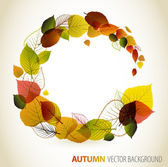 Autumn abstract floral background — Vector de stock