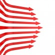 Abstract business red arrows background — Stock Photo