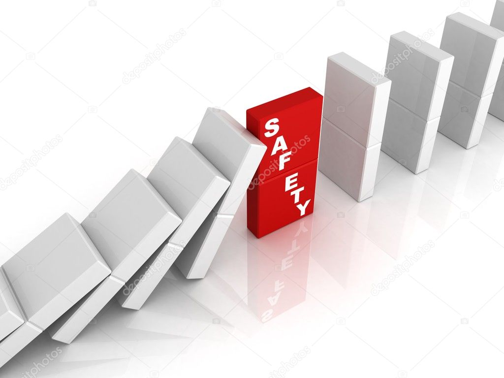 safety concept illustrated by domino effect stock photo safety concept illustrated by domino effect stock photo 11007089
