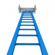 Foto Stock: Ladder and open window