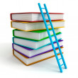 Stack tower of colorful books with ladder — Stock Photo #11246095