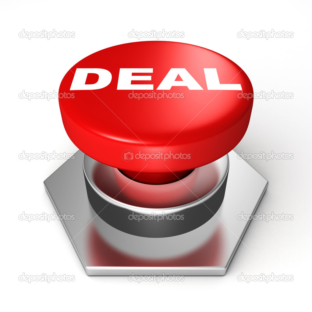 A red button with the word Deal on it — Stock Photo #11246140