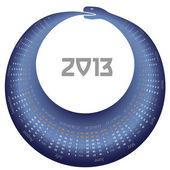 Vector calendar 2013 Snake year — Stock Vector