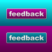 Vector feedback stitched label — Stock Vector