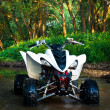 ATV in water — Stock Photo