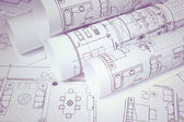 Blueprints for home, office — Stock Photo