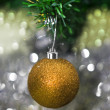 Christmas decorations against festive background — Stock Photo #11740494