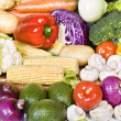 Fresh organic vegetables ready to be used — Stock Photo