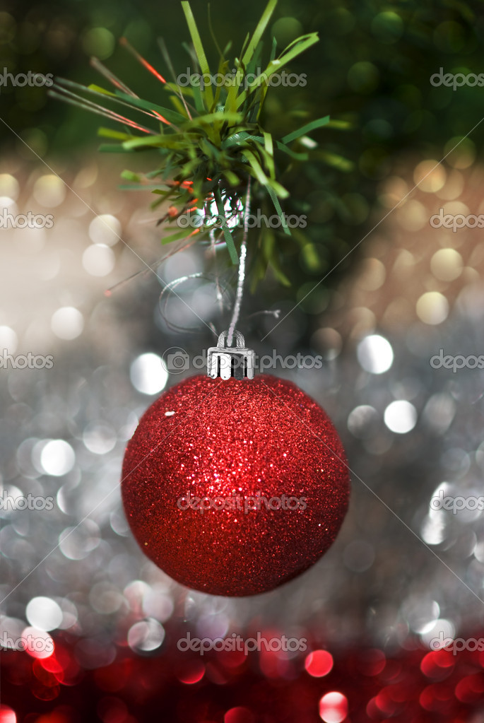 Christmas decorations with colorful background — Stock Photo #11740490