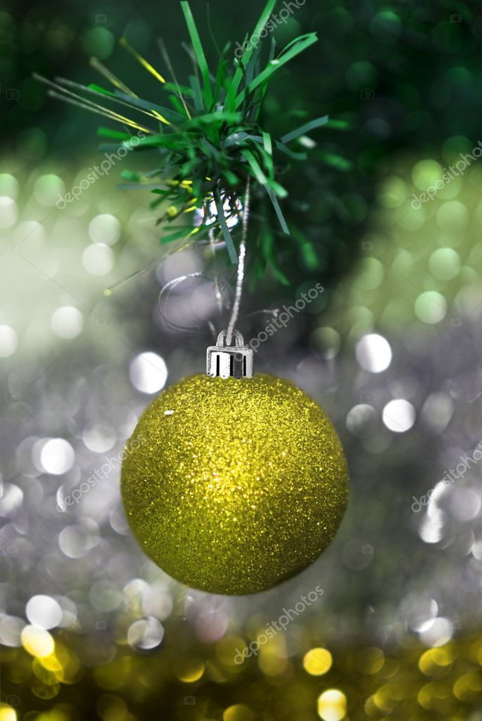 Christmas decorations with colorful background  Stock Photo #11740491