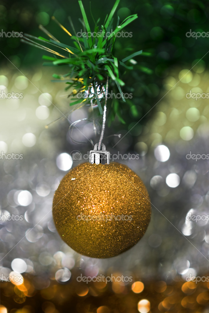 Christmas decorations with colorful background — Stock Photo #11740494