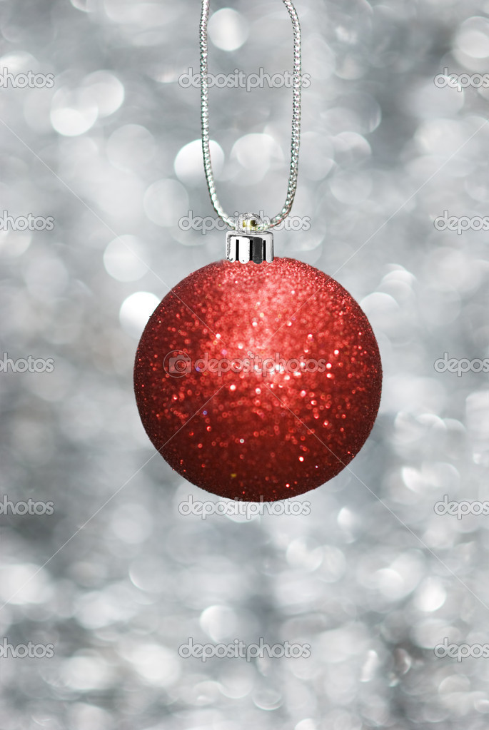 Christmas ball with sparkling background — Stock Photo #11740497