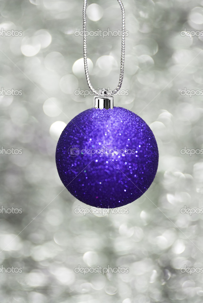 Christmas ball with sparkling background — Lizenzfreies Foto #11740506