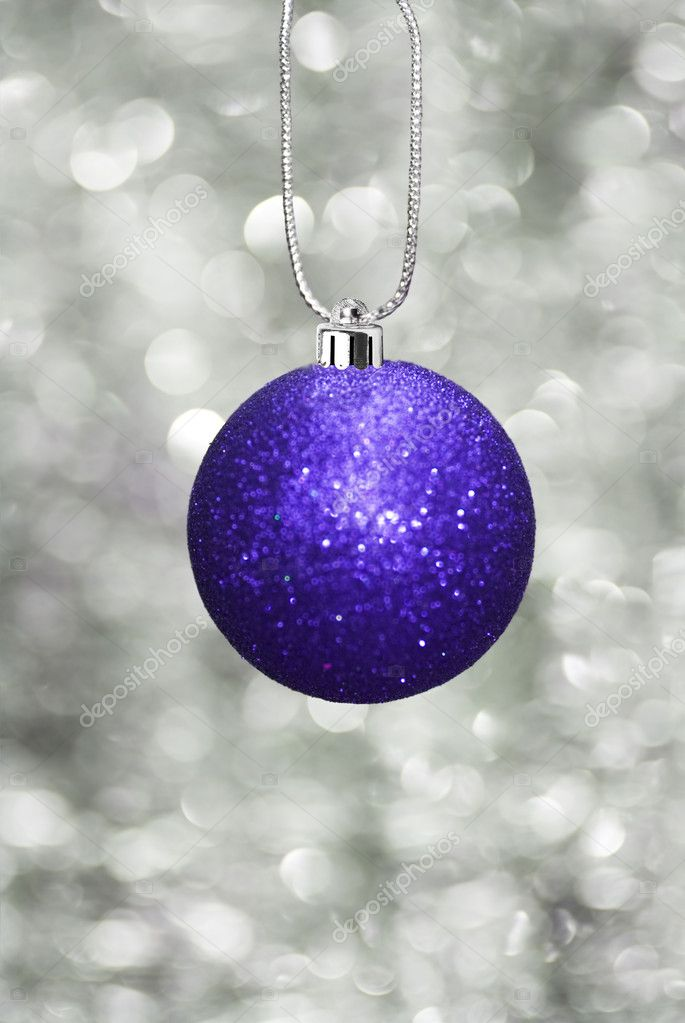 Christmas ball with sparkling background — 图库照片 #11740506