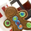 Gingerbread man and coffee - Stock Photo