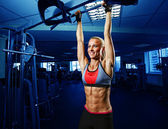 Perfect woman abs — Stock Photo