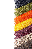 Background with different legumes — Stock Photo