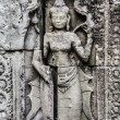 Ancient stone sculpture in Angkor Wat. Cambodia. - Stock Photo