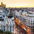 Panoramic view of Gran Via, Madrid, Spain. — Stock Photo #12016749