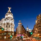 Gran Via in Madrid, Spain, Europe. — Stock Photo