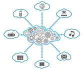 Vector cloud computing diagram — Stock Vector