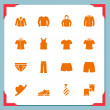 Stock Photo: Clothes icons | In a frame series