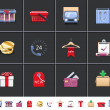 Foto Stock: Shopping icons