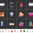 Office icons — Stock Photo