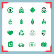 Eco icons | In a frame series - Stock Photo
