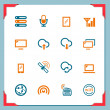 Wireless icons | In a frame series - Stock Photo