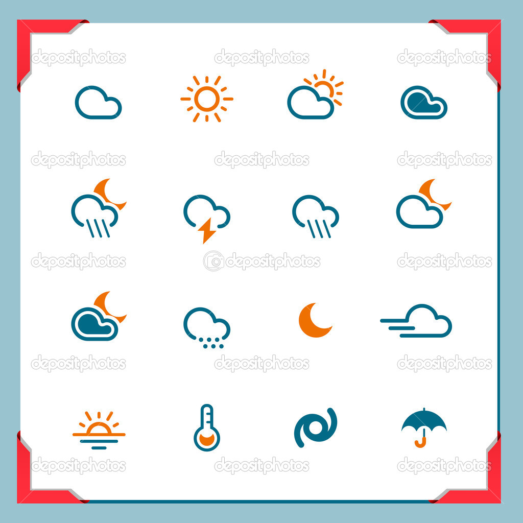 Weather icons | In a frame series — Lizenzfreies Foto #11520448