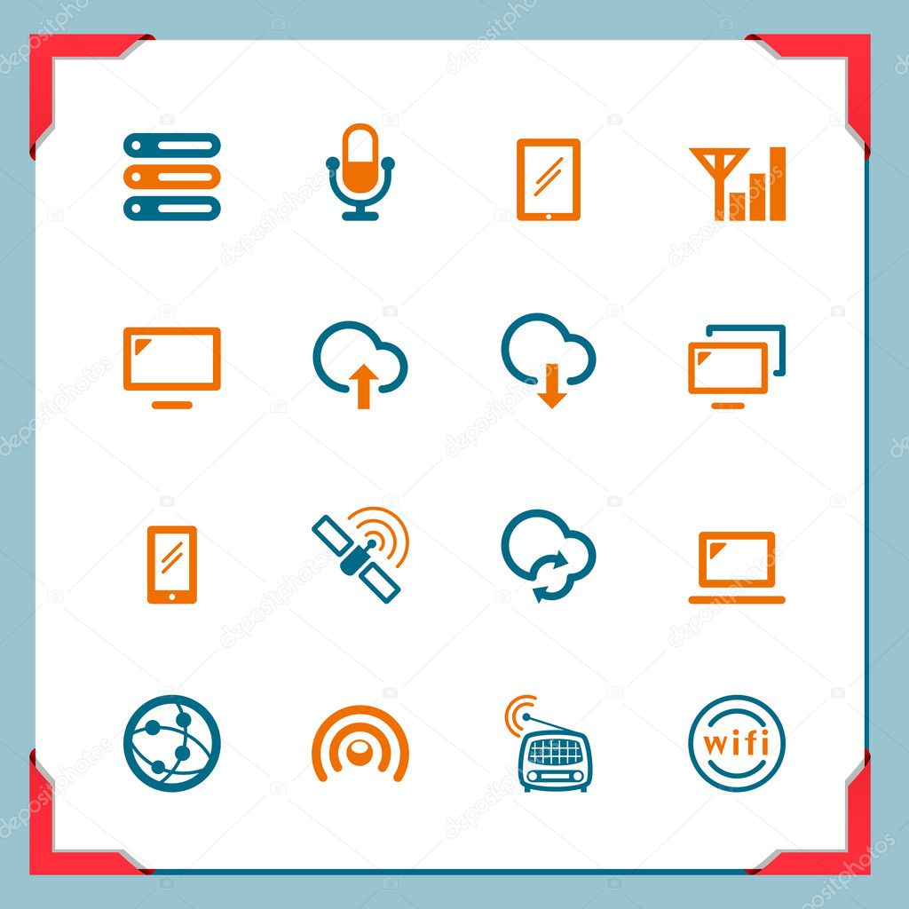 Wireless icons | In a frame series — Stock Photo #11520457