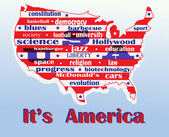 Map of america — Foto Stock