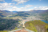 Lugano - view from Monte San Salvatore — Stock Photo