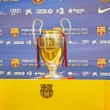 Постер, плакат: BARCELONA APRIL 26: UEFA Champions League Trophy Tour 2012 in