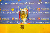 Barcelona - April 26: Uefa Champions League Trophy Tour 2012 in — Stockfoto
