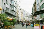 BASEL - MAY 3: walk by at the main street in Basel May 3, — Stock Photo
