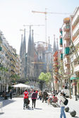BARCELONA - ABRIL 21: La Sagrada Familia - the impressive cathed — Stockfoto