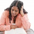 High school or college ethnic African-American female student si — Stock Photo