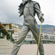 MONTREUX, SWITZERLAND APRIL 23, 2012: Freddy Mercury Statue in M - Stock Photo