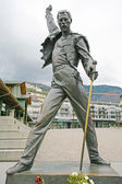 MONTREUX, SWITZERLAND APRIL 23, 2012: Freddy Mercury Statue in M — Stok fotoğraf
