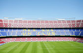 BARCELONA, SPAIN APRIL 26: FC Barcelona (Nou Camp) football stad — Stock Photo
