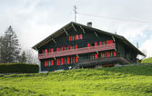 Typical swiss house — Stock Photo