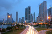 Stunning view of Panama City by the sunset. — 图库照片