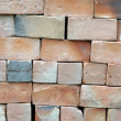 Piles of new bricks unused — Stock Photo #11477380